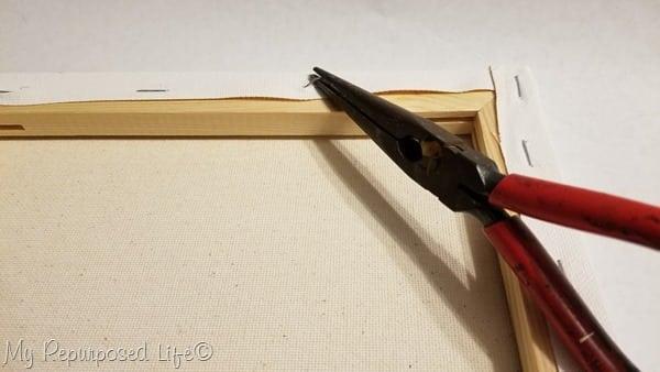 needle nose pliers remove staples