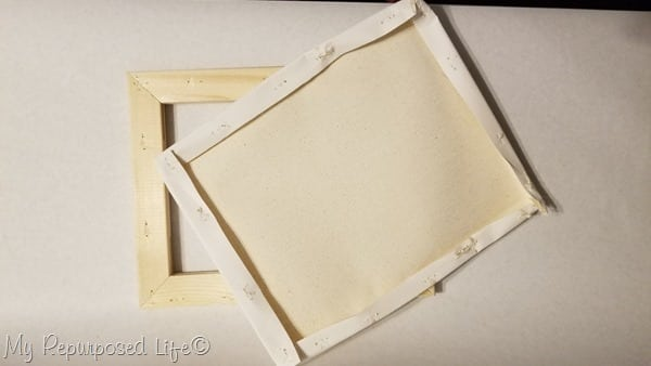 remove canvas from wooden frame