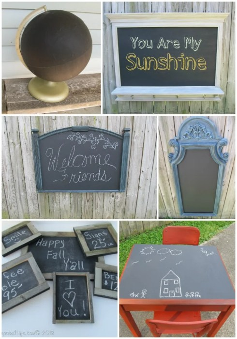 repurposed chalkboard project ideas
