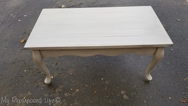 smoked glaze queen anne coffee table makeover