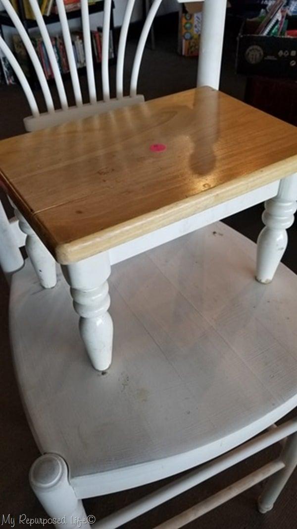 thrift store kids stool