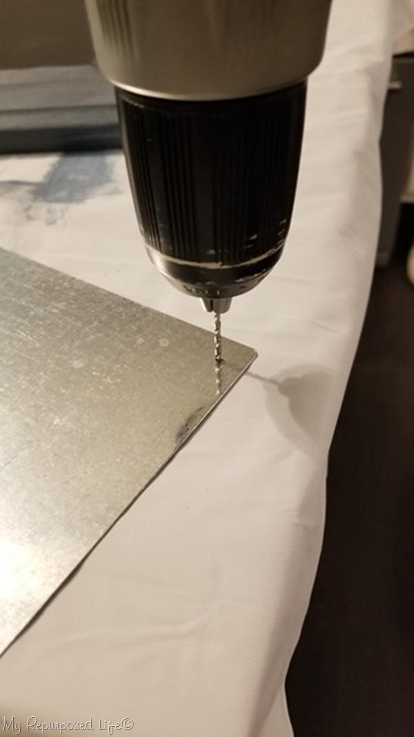 drill pilot hole in sheet metal memo board