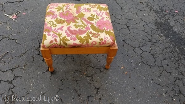 five dollar thrift store stool