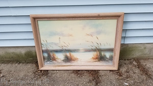 yard sale picture frame