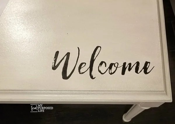 chalk couture welcome transfer chalkology paste on piano bench lid