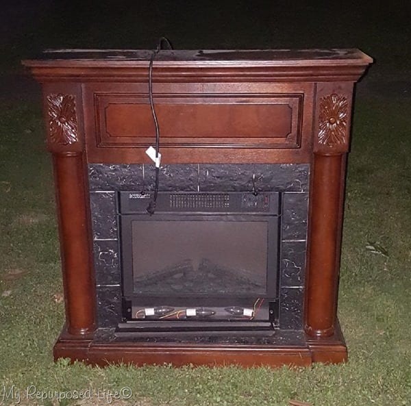 electric faux fireplace heater