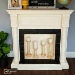 Faux Fireplace Mantel Makeover