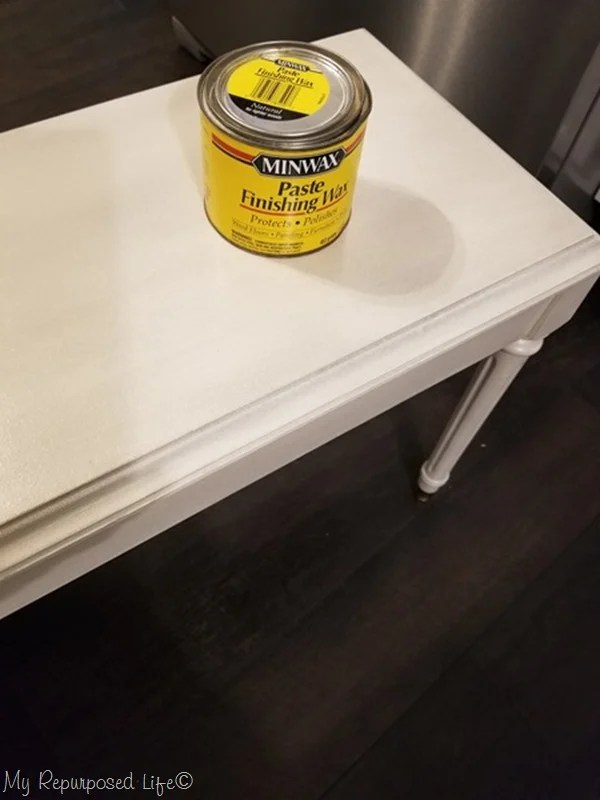 furniture wax on piano bench