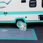 Spray Painted Outdoor Rug for Camper or RV