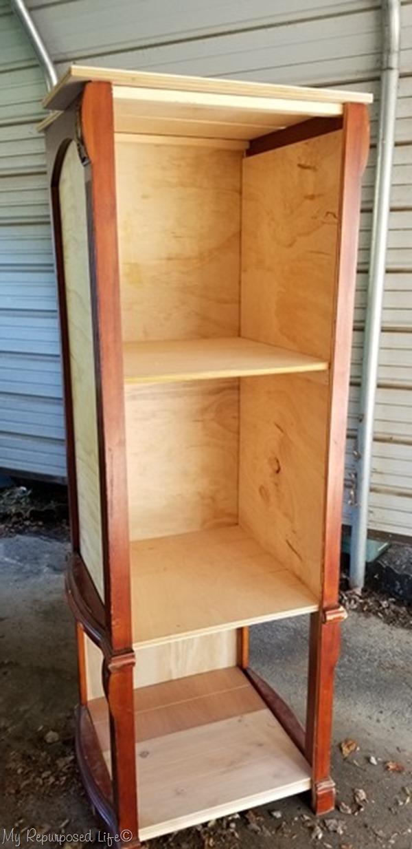 progress of diy bookcase