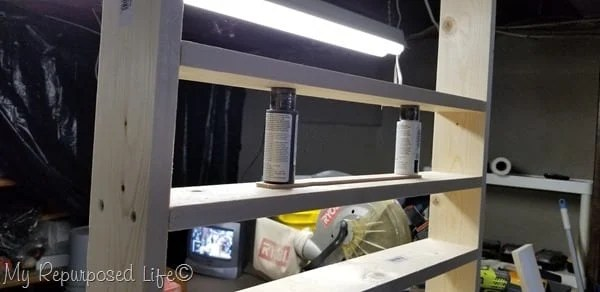 spacing for craft paint shelving unit