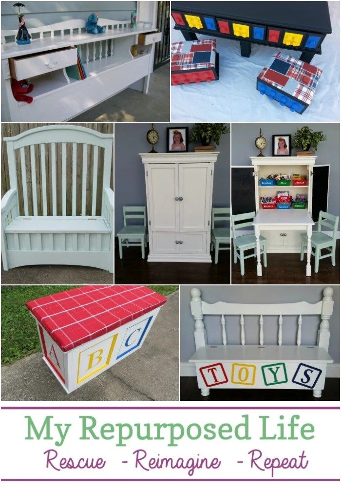 My Repurposed Life has the best kids organization ideas using repurposed furniture. Don't throw out unwanted items, transform them into useful kids organization. #MyRepurposedLife #Repurposed #furniture #kids #projects via @repurposedlife