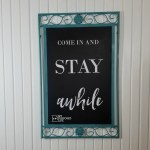 Turquoise Mirror Frame Chalkboard