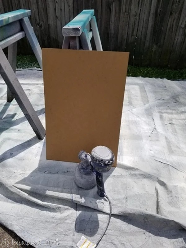 using a super finish max extra with chalkboard paint