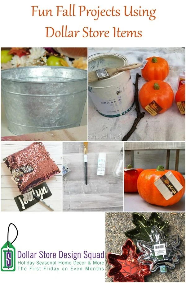 fun fall projects using dollar store items