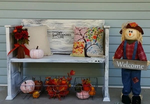 painted crackled dollar store pumpkins fall decor MyRepurposedLife