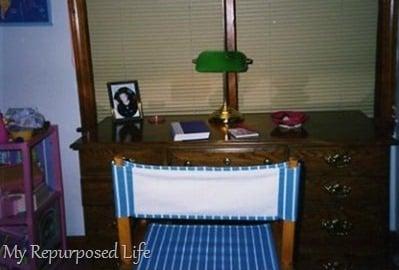 vintage tween desk repurposed
