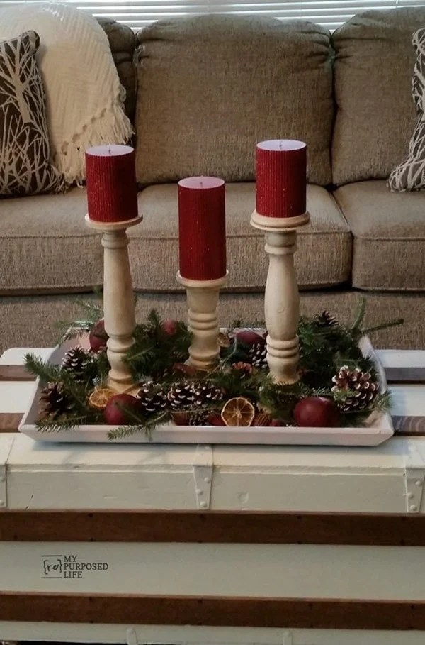How to make DIY candlesticks using items from the scrap pile, including old chair parts, bed posts and more. You will wonder why you never made these before #MyRepurposedLife #scrapwood #candlestick #diy #project #easy via @repurposedlife