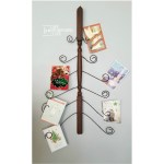 Christmas card holder |wooden Spindle | twisted wire