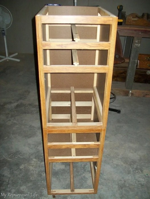 stacked desk drawer sections