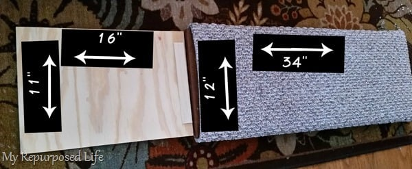 measurements for a diy indoor pet ramp