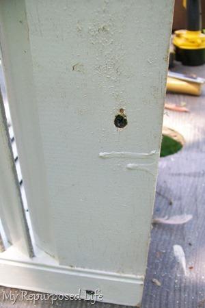 two inch screws attach support brackets-crib rails