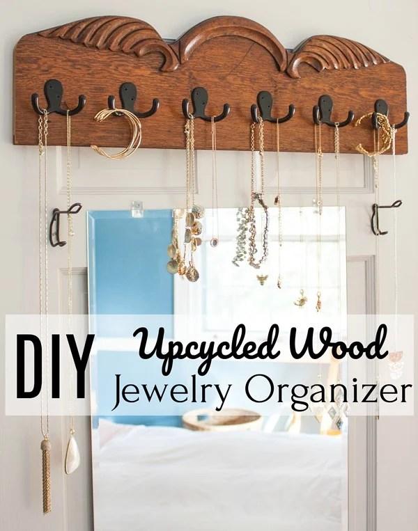 DIY-Upcycled-Wood-Jewelry-Organizer