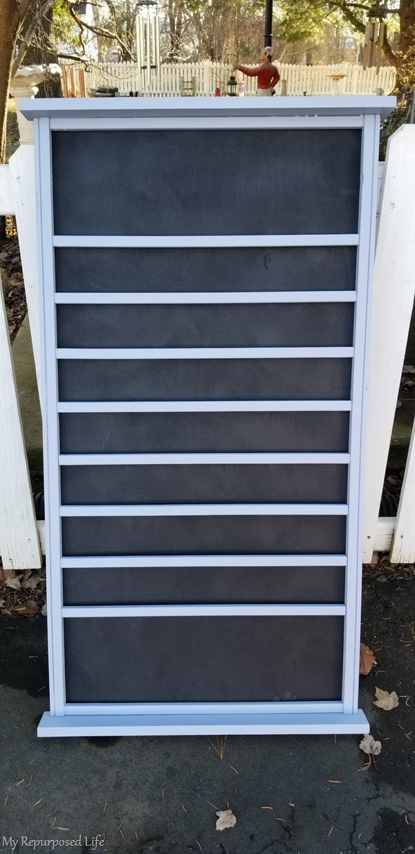 gray crib rail menu board