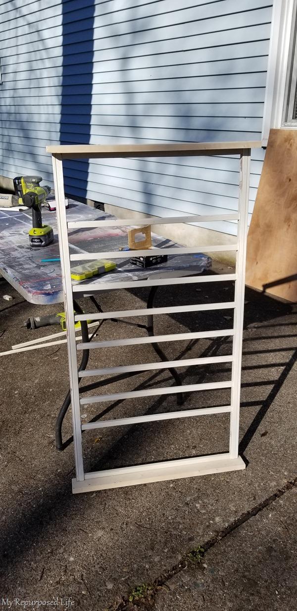 repurposed crib rail section