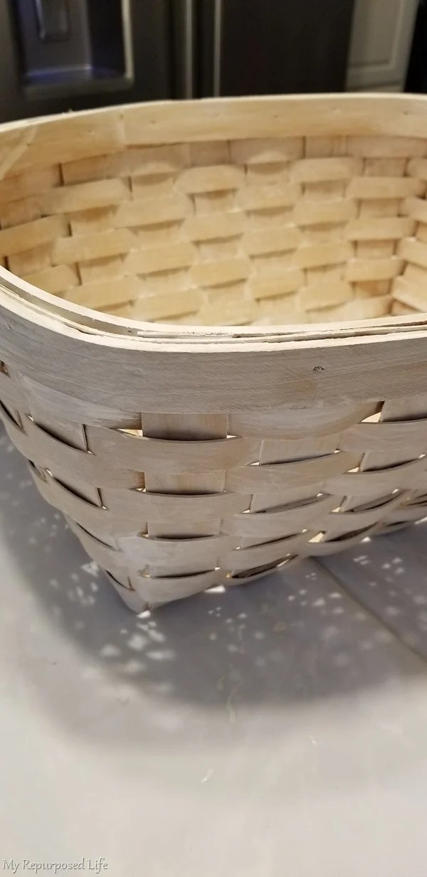 woven basket makeover primer paint