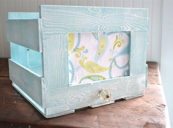 wooden picture frame crate