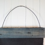 Drop Cloth Chalkboard with Pallet Boards