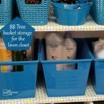Linen Closet Organization | Dollar Tree