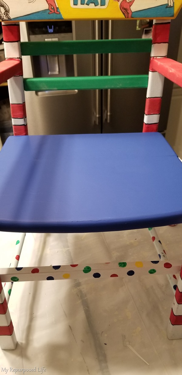 repainted chair seat