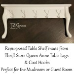 Repurposed Table Shelf | Queen anne Legs