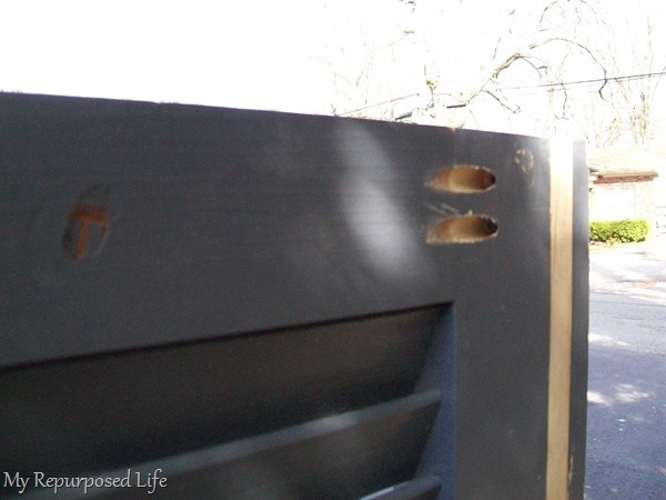 how to attach shutter bookshelf using pocket hole joinery