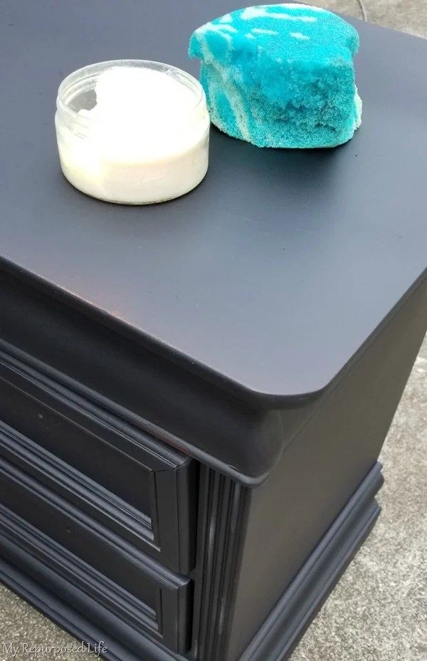 tips for waxing black vintage nightstands