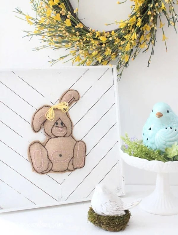 DIY-Easter-Decor-with-a-Burlap-Easter-Bunny