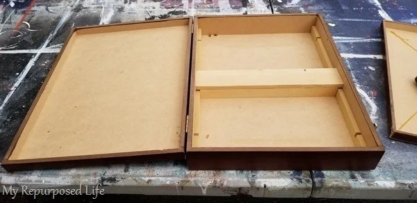 designing a wooden mail organizer box