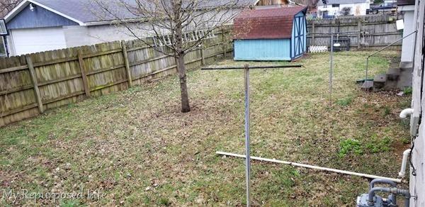 Outdoor Overhaul backyard before