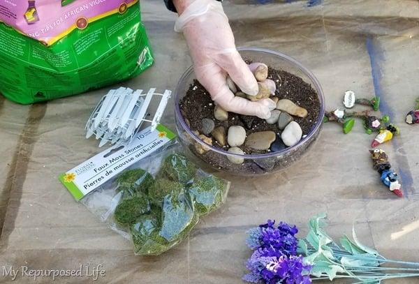 add river rocks to soil