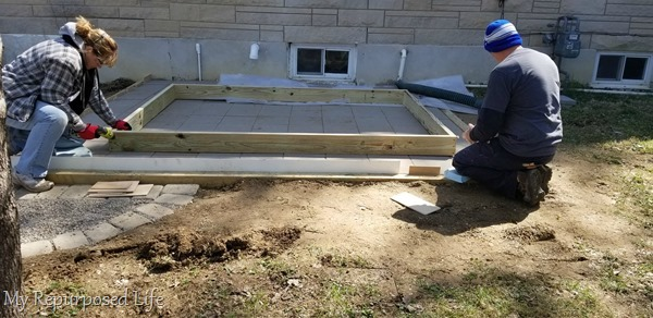 frame of small deck or porch