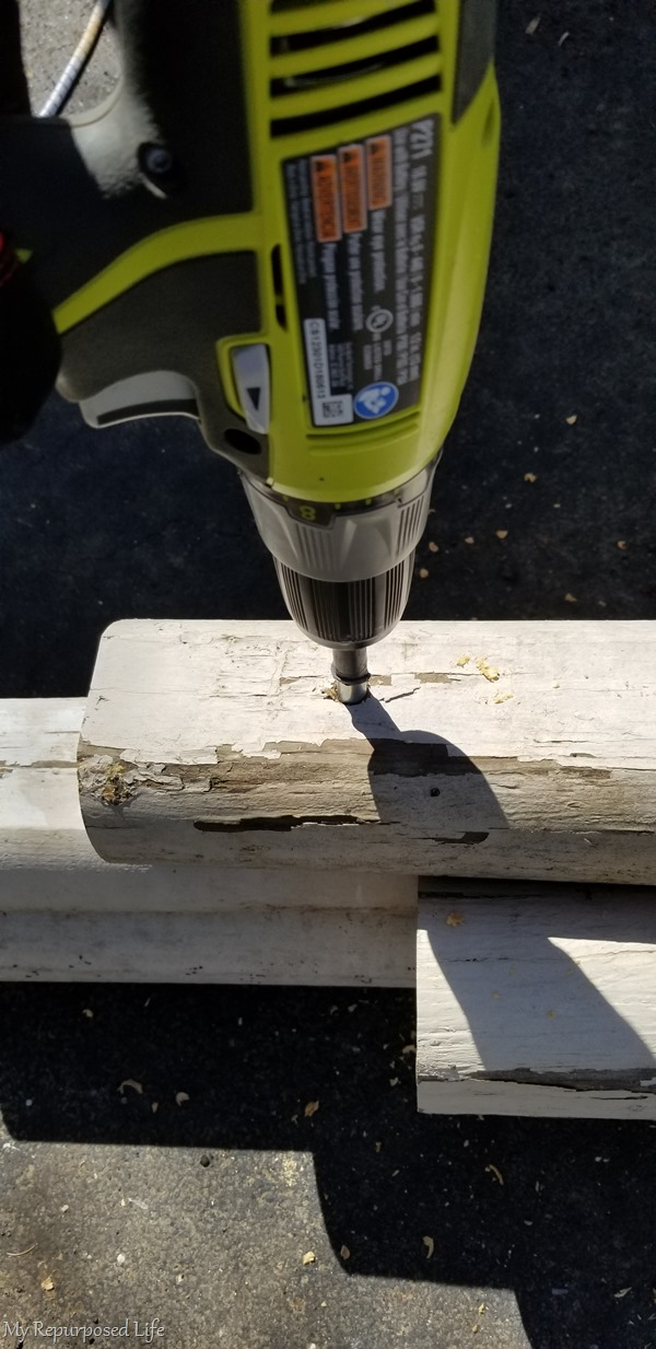 lay down timbers to get a secure fit