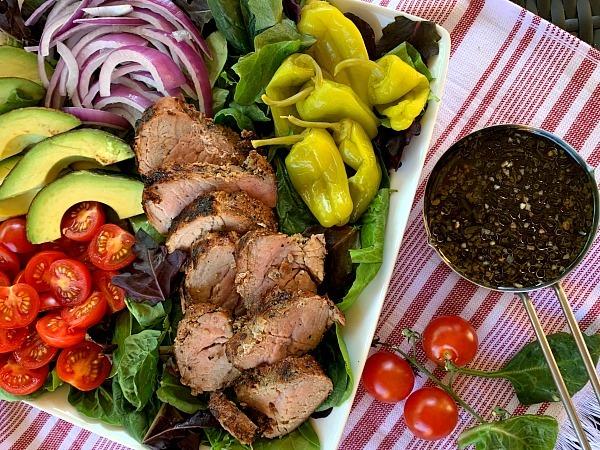 Mixed-Green-Salad-with-Garlic-Herb-Pork-Tenderloin-1