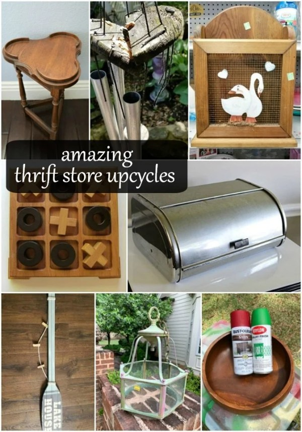 amazing thrift store upcycle projects to inspire you from awesome diy bloggers