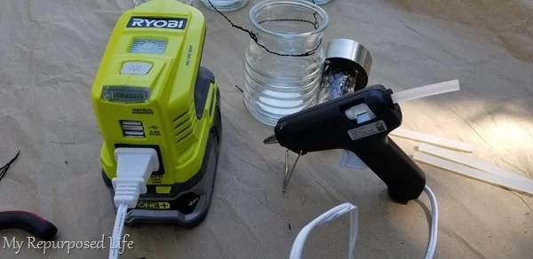portable power for glue gun ryobi inverter
