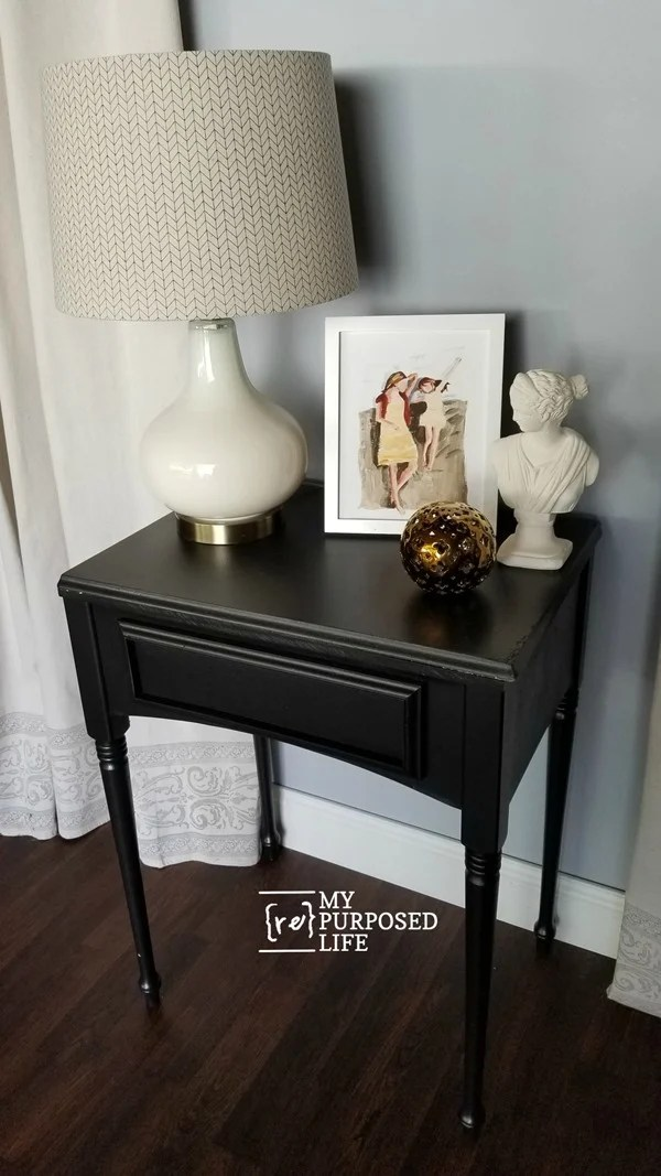 sewing machine cabinet side table MyRepurposedLife