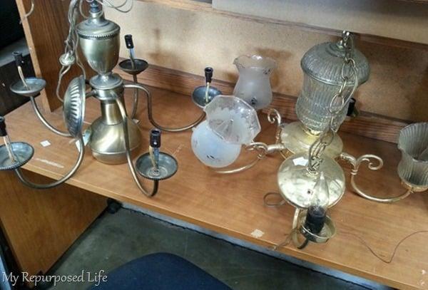 thrift store chandelier