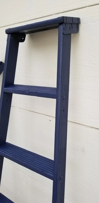 flawless paint job on wooden ladder