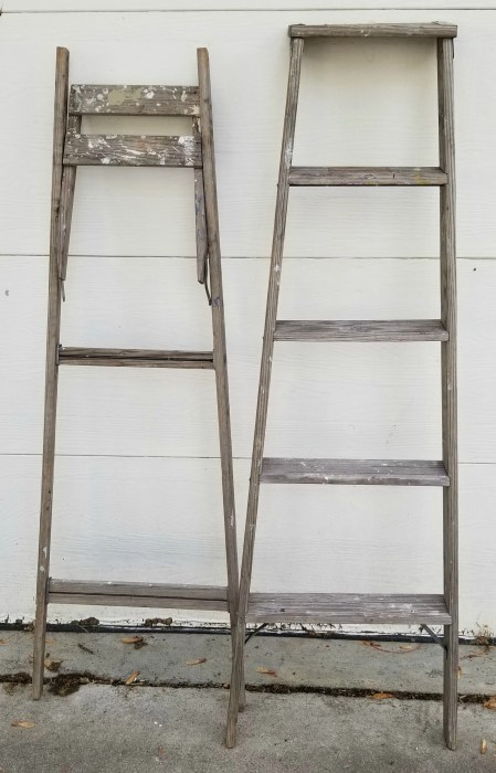 Old Wooden Ladder Plant Stand My Repurposed Life